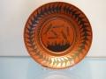Scottie Wilson - tea saucer, earthenware