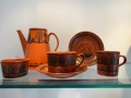 Scottie Wilson - tea and coffee part-sets - detail - earthenware