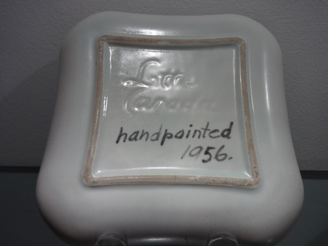 Lotte Bostlund -- hand painted porcelain stoneware dish